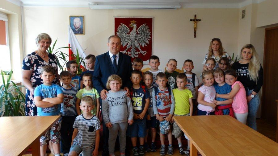 Przedszkolaki w Urzędzie Gminy