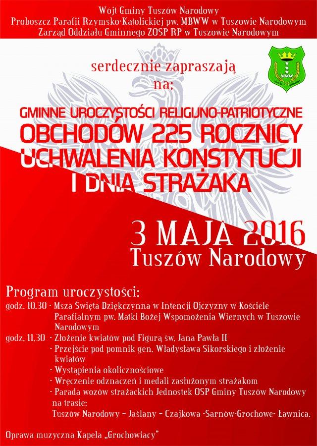 225 rocznica uchwalenia Konstytucji oraz Dzień Strażaka wTuszowie Narodowym