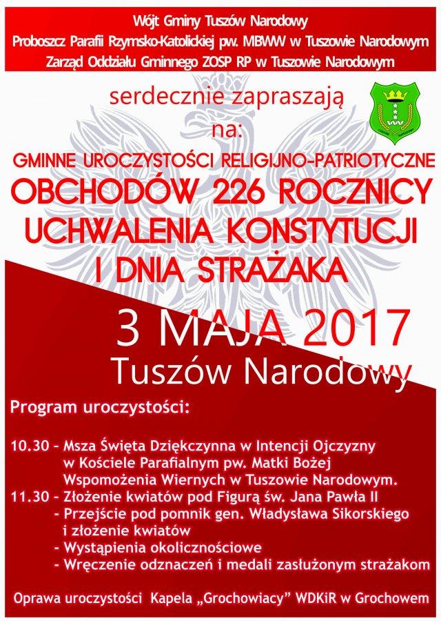 Obchody 226 rocznicy uchwalenia Konstytucji iDzień Strażaka